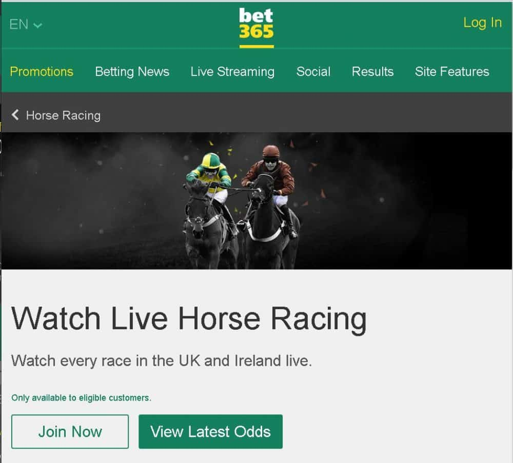 bet365 live horse racing streams