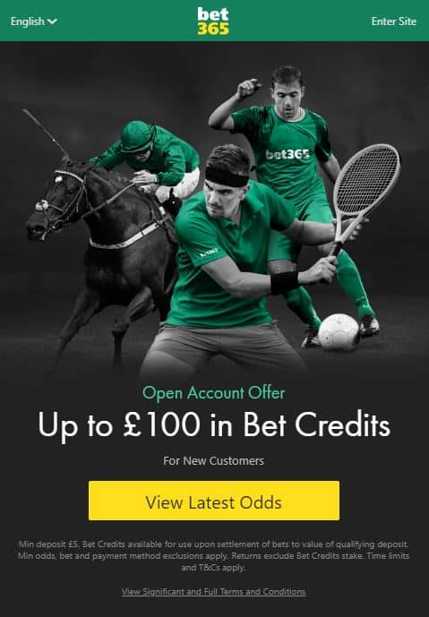 bet365 free sign-up offer