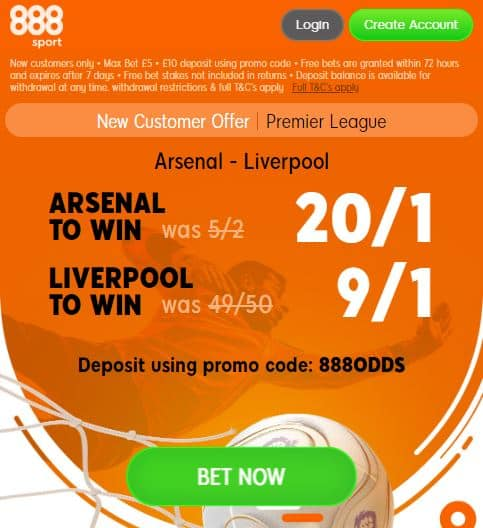 Arsenal vs Liverpool boosts