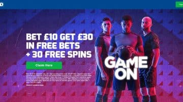 Betfred homepage