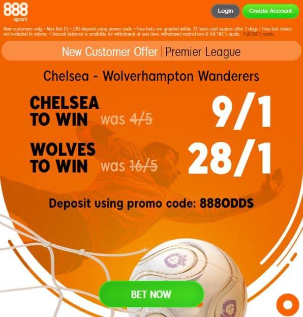 Chelsea vs Wolves 888Sport