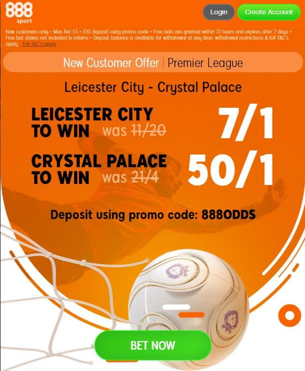Leicester vs Crystal Palace price boosts