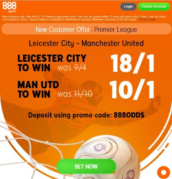 Leicester vs Man Utd boost