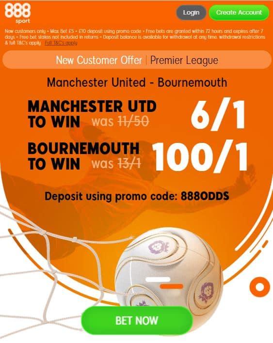 Man Utd vs Bournemouth betting tips