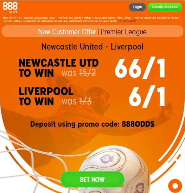 Newcastle v Liverpool boosts