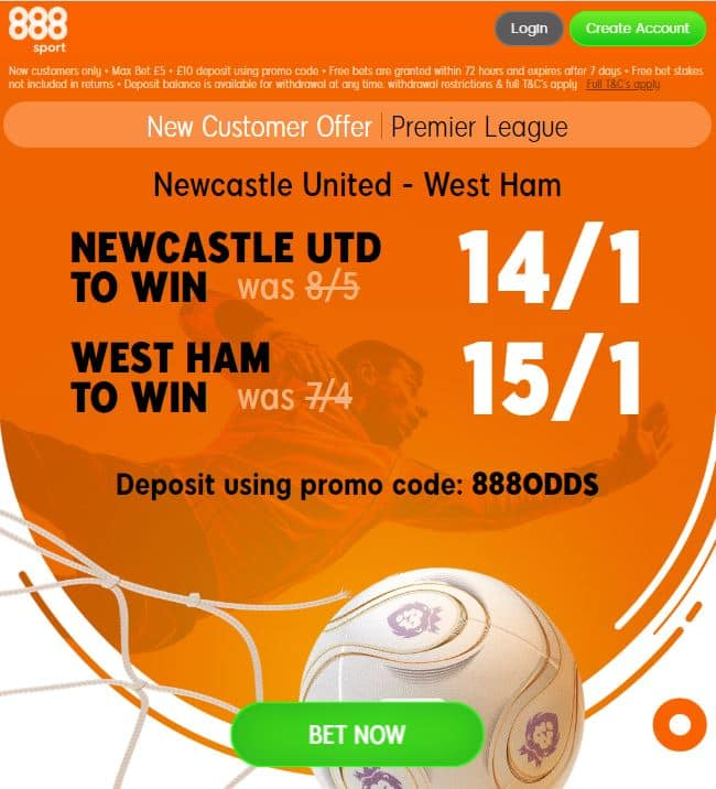 Newcastle vs West Ham boosts