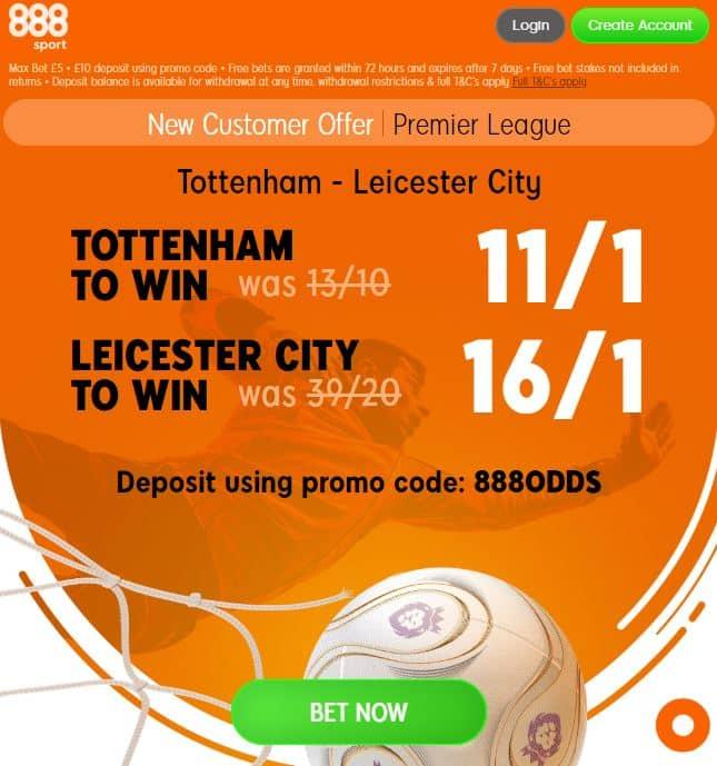 Tottenham Leicester 888boost