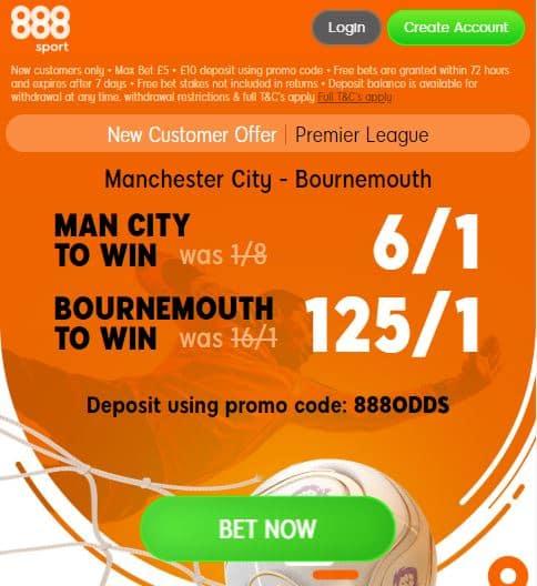 Man City Bournemouth boost