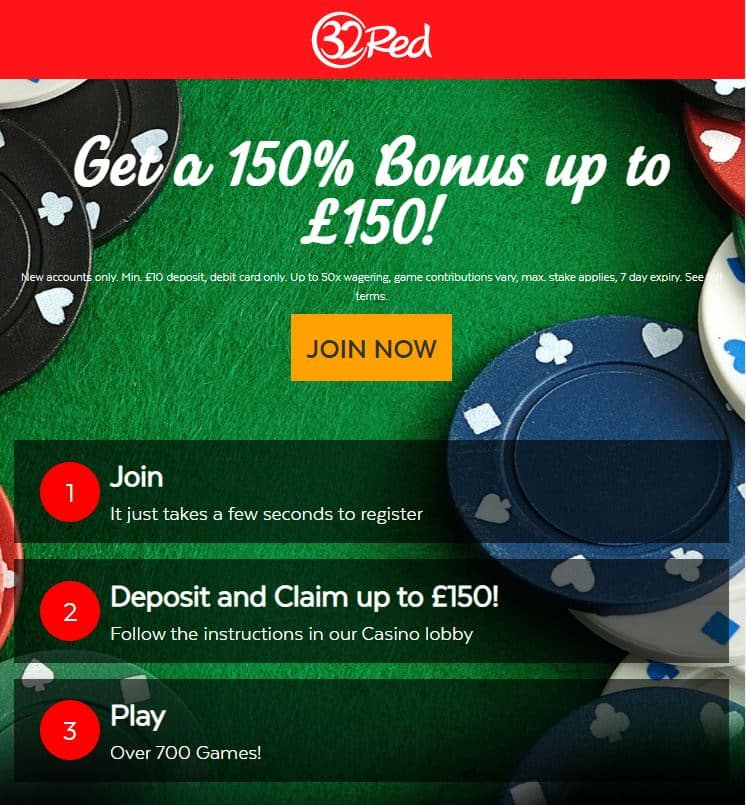 32Red Casino Bonus Code