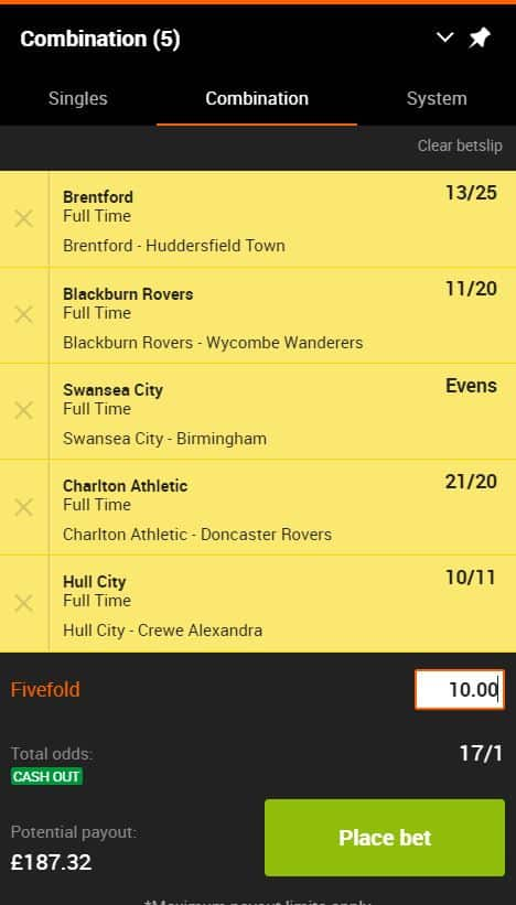 Acca tips 19th September