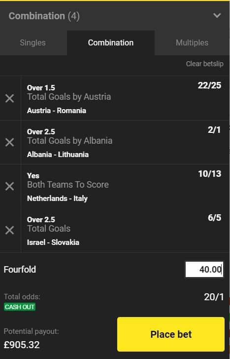 Nations League acca tip