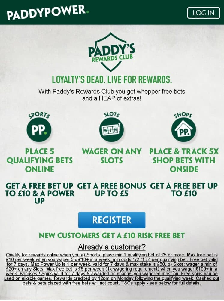 Paddy Power Rewards Club
