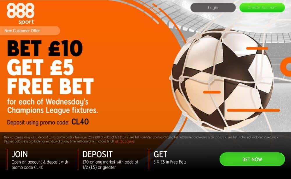 888Sport Champions League Wednesday