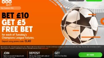 How to get a £5 Free Bet for EVERY Champions League Game Today (£40 in Total)