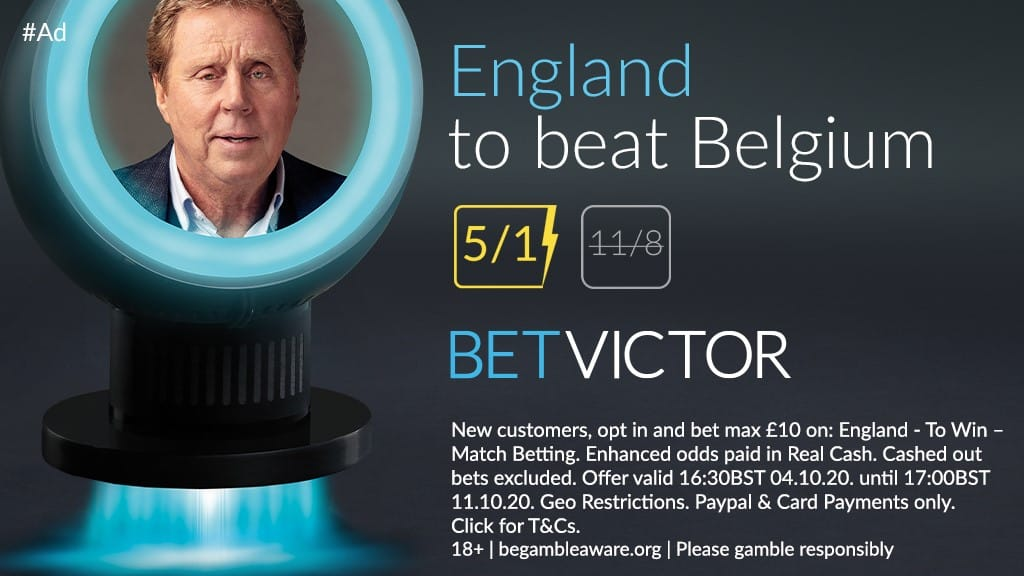 5/1 for England to beat Belgium for new Bet Victor Accounts