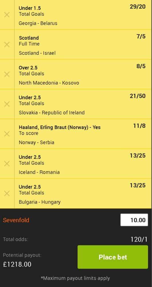 Euro 2020 accumulator tips