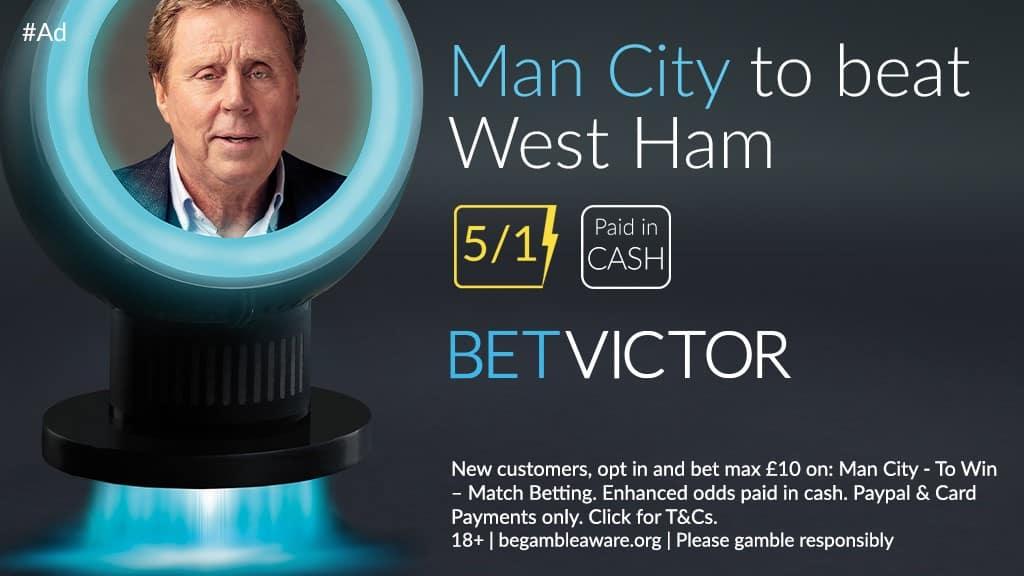 Man City to beat West Ham price boost