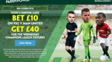 Champions League Free Bets: How to get £40 when you bet £10 on PSG v Man United