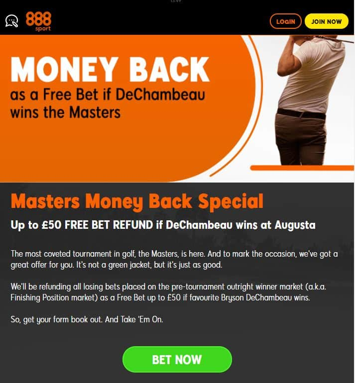 888Sport US Masters tips
