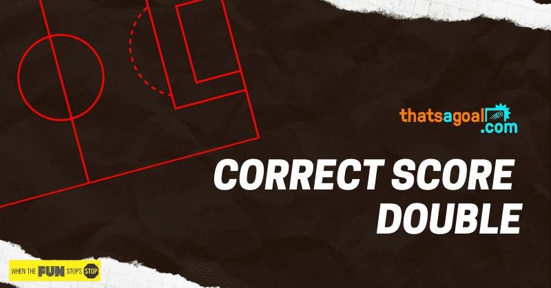 Correct score double tips