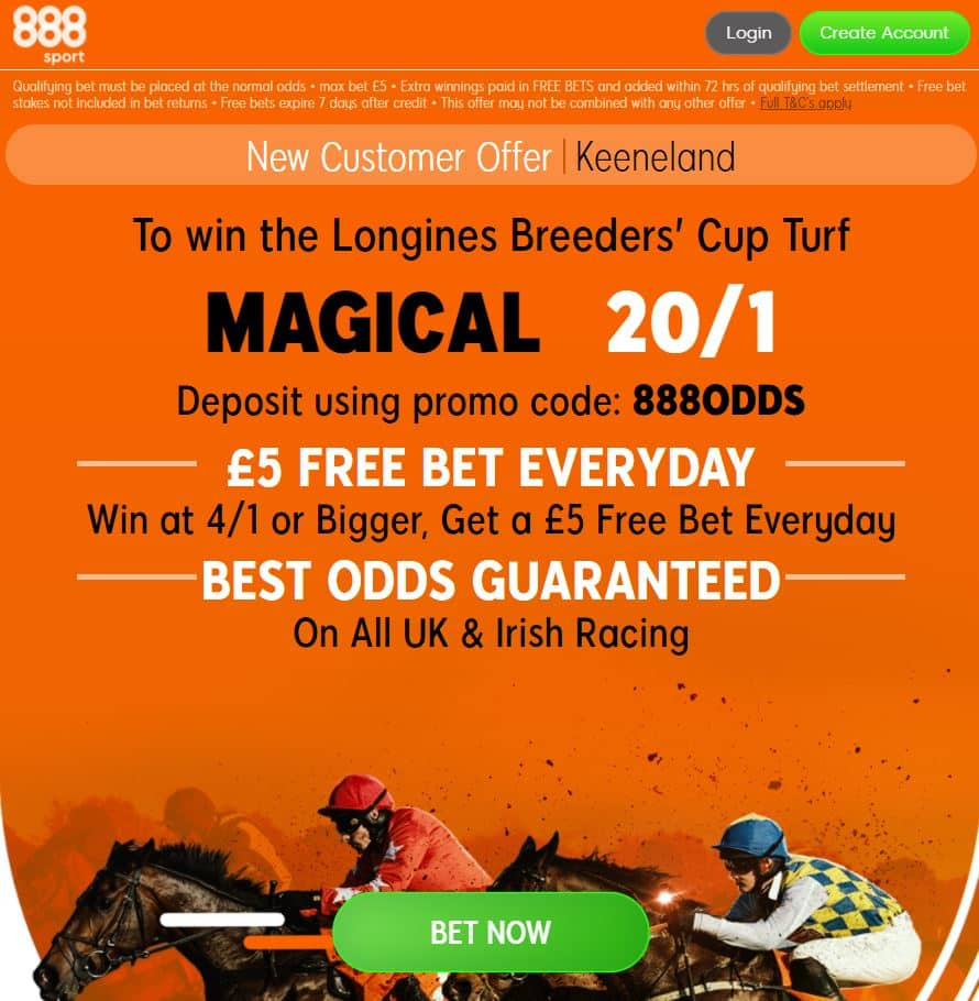 Magical 20/1 to win