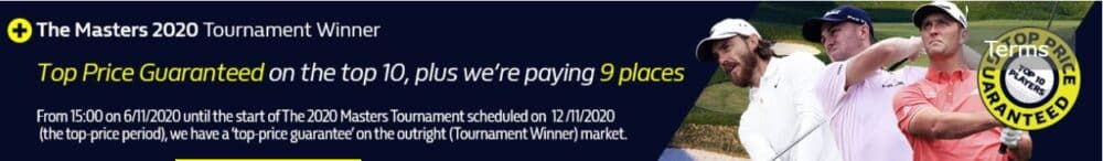 US Masters William Hill offer