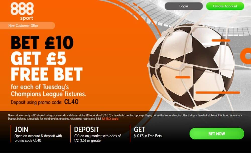 Champions League free bets