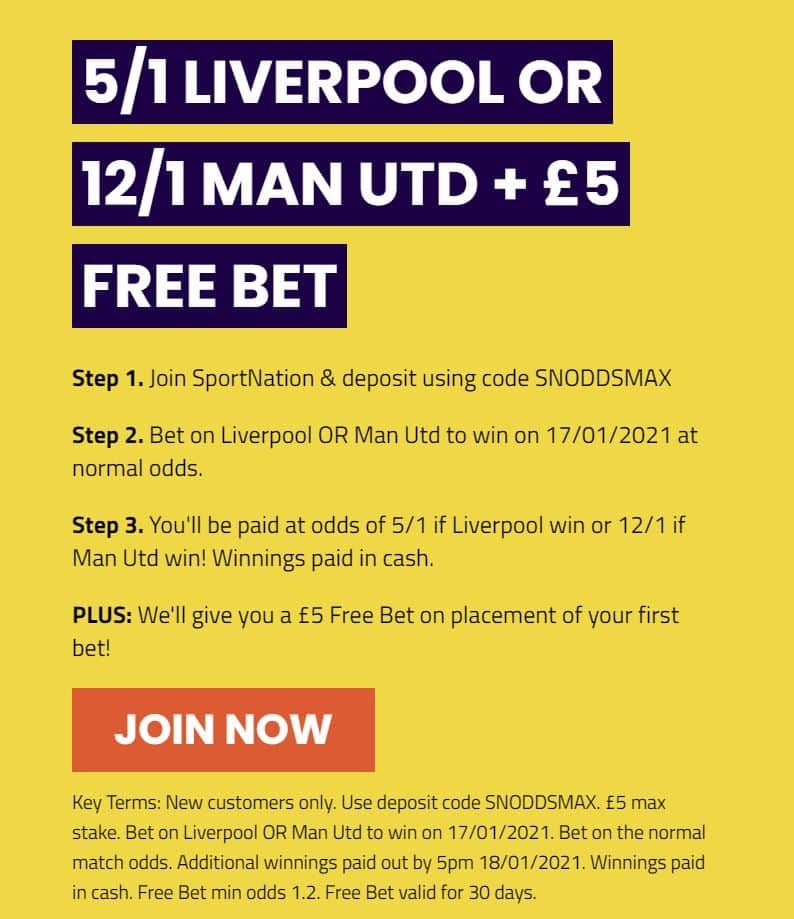 Liverpool Man Utd price boost