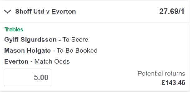 Sheffield United v Everton betting tips