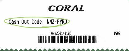 Coral connect cashout