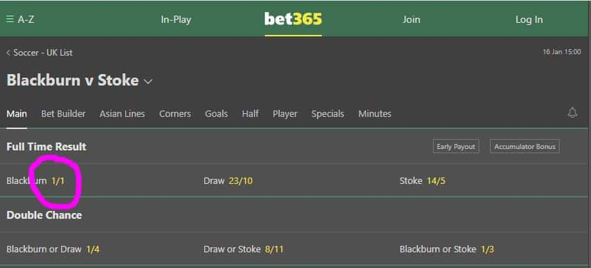 Odds evens betting how to win in betting soccer
