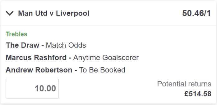 Man United vs Liverpool bet builder tip