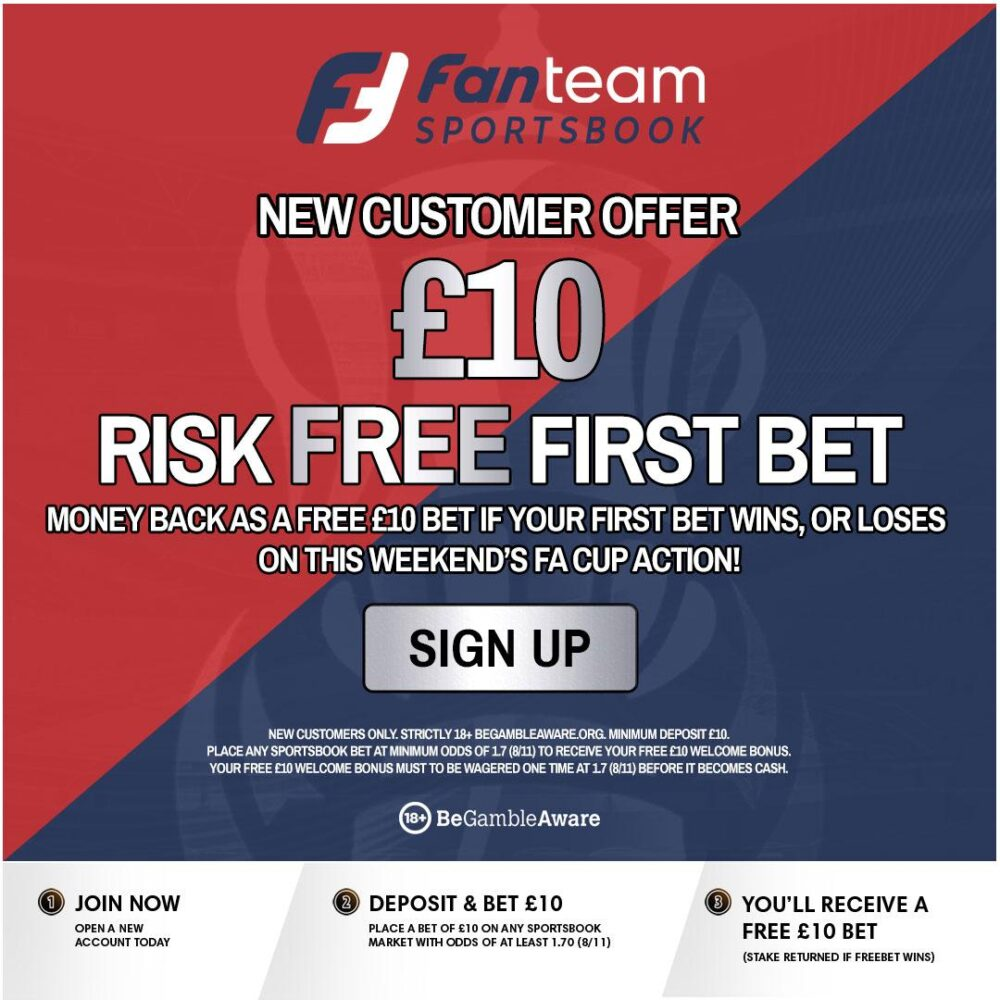 FanTeam FA Cup free bet