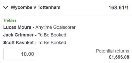Wycombe vs Tottenham betting tips
