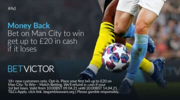 Champions League: Bet £20 on Man City to beat Dortmund & get a CASH refund if they lose