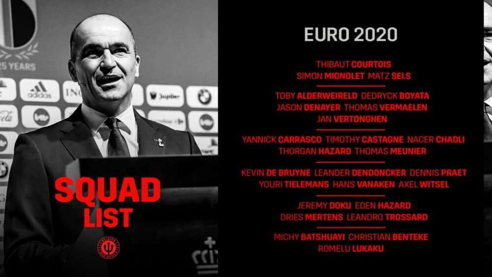 Euro 2020 Belgium squad