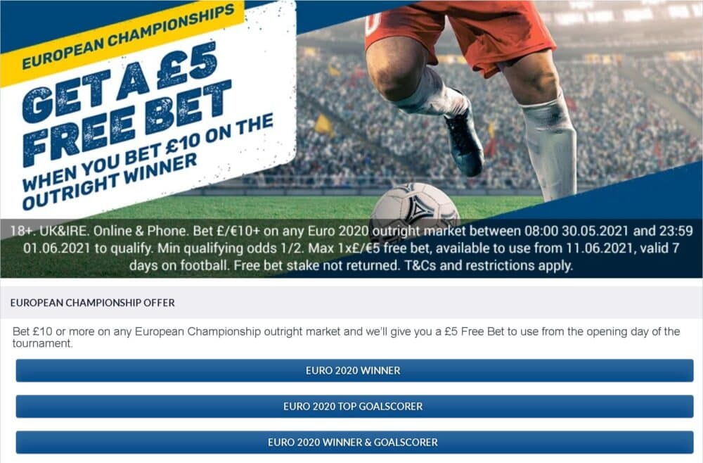 Euro 2020 Coral offer