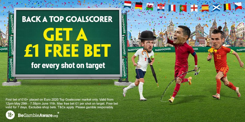 Paddy Power Euro 2020 top scorer offer