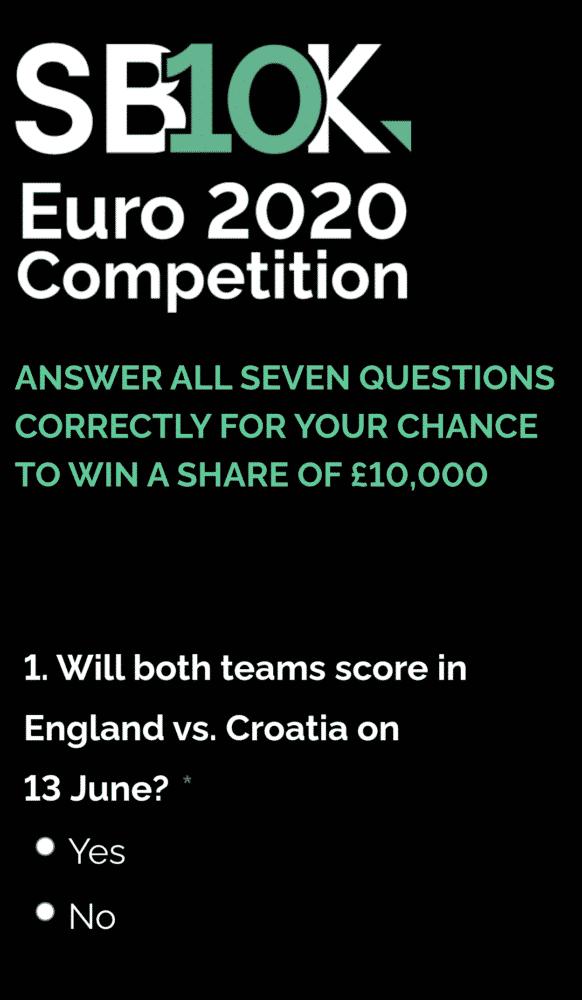 Euro 2020 free to play game