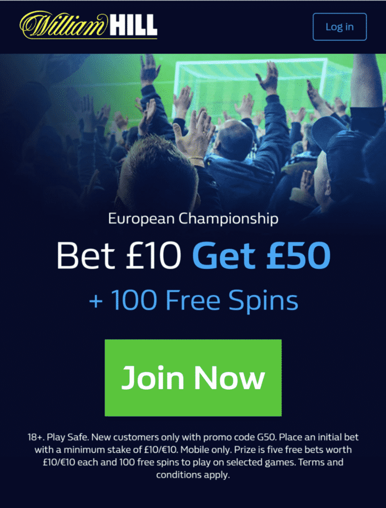 Euro 2020 William Hill sign-up offer