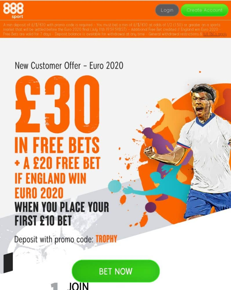 Euro 2020 free bet