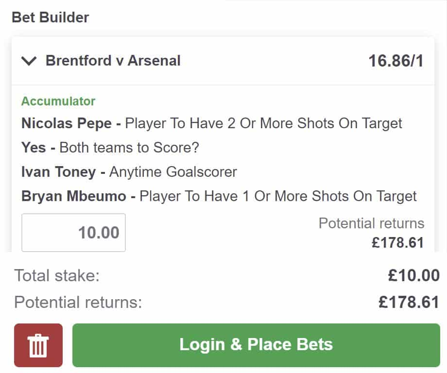 Brentford v Arsenal tips