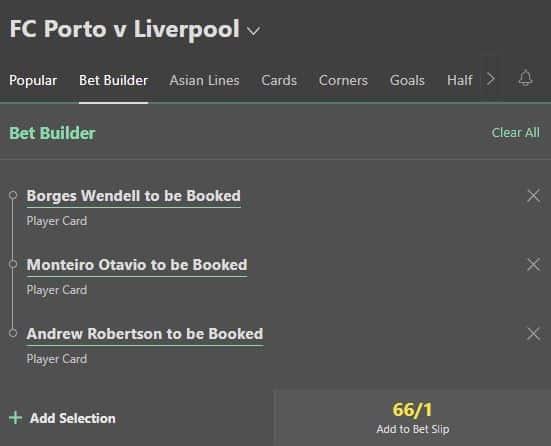 Porto vs Liverpool booking tips