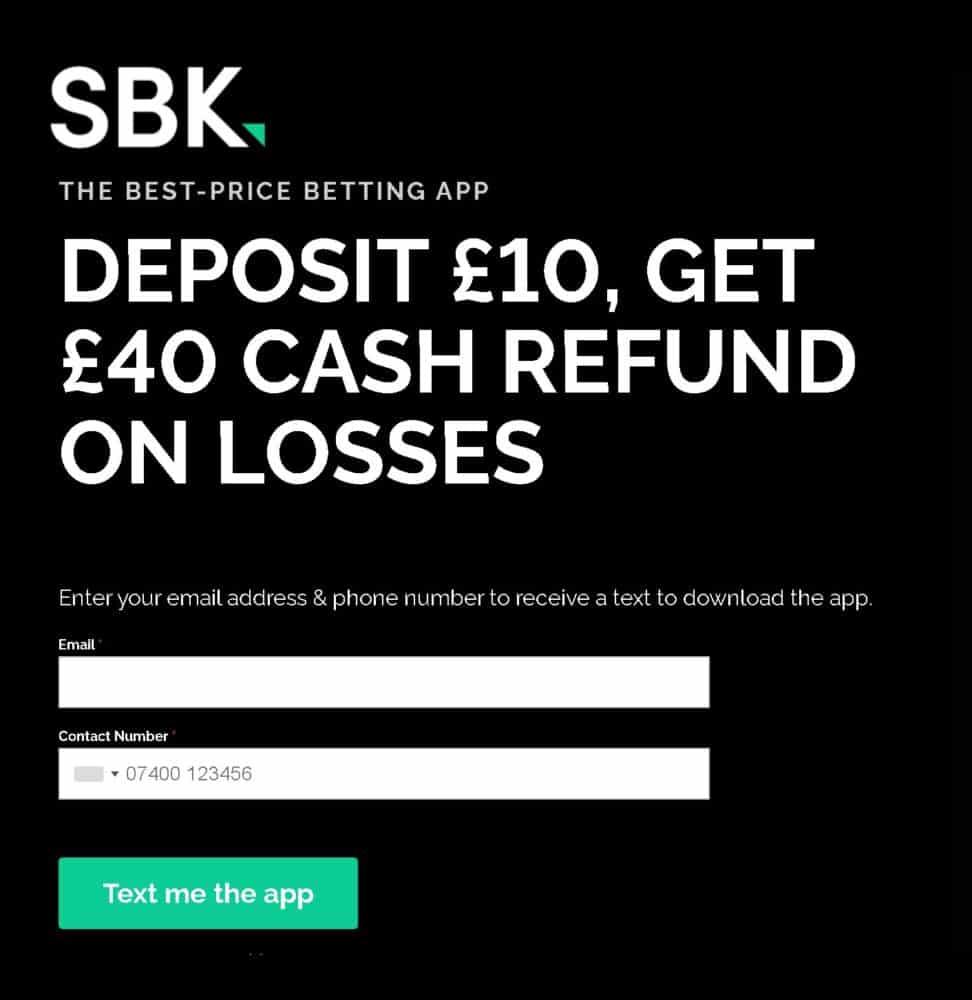 SBK £40 sign-up offer