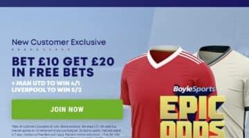 Man Utd v Liverpool price boost